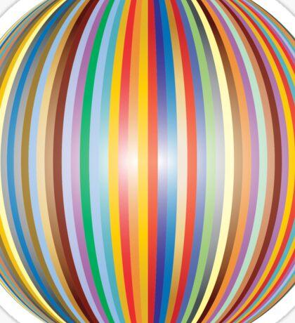 Stripe Ball Sticker