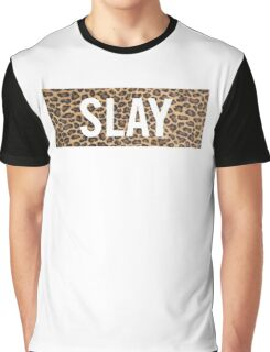 Slay Leopard Graphic T-Shirt