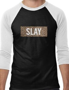 Slay Leopard Men's Baseball ¾ T-Shirt