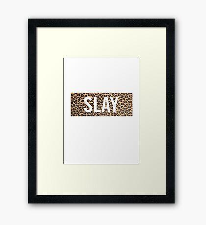 Slay Leopard Framed Print