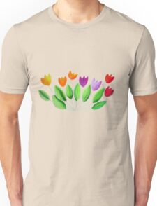 Seven colorful tulips Unisex T-Shirt