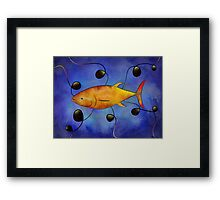 Tuorangossi V1 - orange tunafish Framed Print