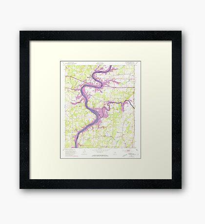 USGS TOPO Map Alabama AL Riverside 304952 1947 24000 Framed Print