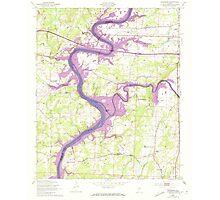 USGS TOPO Map Alabama AL Riverside 304952 1947 24000 Photographic Print