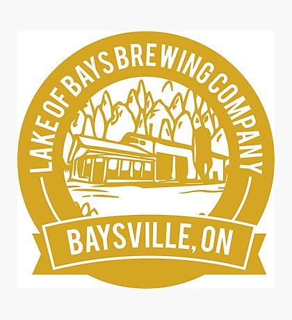 Lake of Bays Brewing Company - Baysville, ON: Cartoon Circular, Mustard Photographic Print