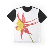Aquilegia-watercolor flower for elves Graphic T-Shirt