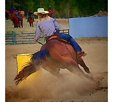 Champion Barrel Racer Photographic Print