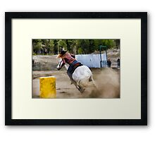 Champion Barrel Racer Framed Print