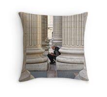 Between The Columns Throw Pillow