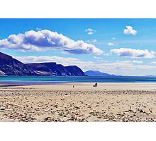 Wandering on the beach under the clouds Photographic Print