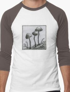 Tiny Mushrooms Men's Baseball ¾ T-Shirt