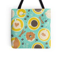 Coffee upper view seamless Tote Bag