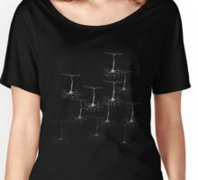 Pyramidal cells on black Women's Relaxed Fit T-Shirt