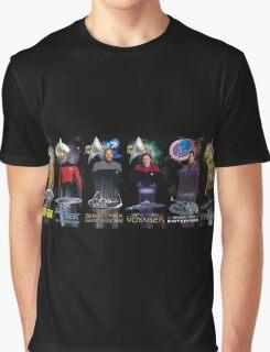 Star Trek - All The Captains Graphic T-Shirt