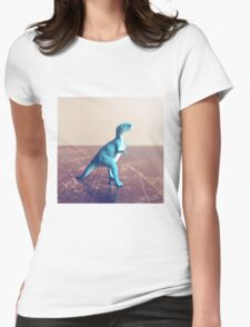 Blue Dinosaur  Womens Fitted T-Shirt