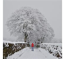 Heavy Snow in Haworth Photographic Print
