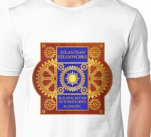 Atlantean Steamworks - Blue and Gold Unisex T-Shirt