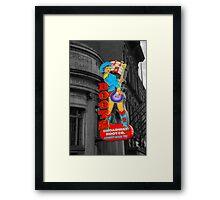 Broadway Boots  Framed Print