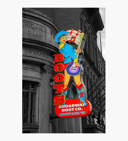Broadway Boots  Photographic Print