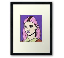 Pink Comic Girl Framed Print