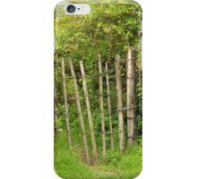 Barbed Wire Gate in a Bush iPhone Case/Skin