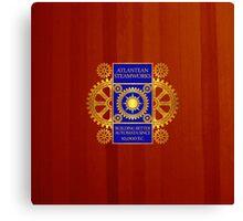 Atlantean Steamworks - Gold & Blue Canvas Print
