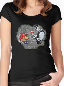 Super Mario - mushrooms addicted Women's Fitted Scoop T-Shirt
