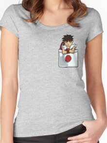 Street Fighter Pocket Pals - #1 Ryu Women's Fitted Scoop T-Shirt