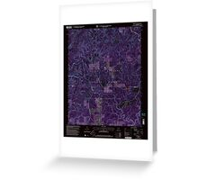 USGS TOPO Map Alabama AL Grayson 304029 2000 24000 Inverted Greeting Card