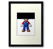 Censored SuperMario Framed Print