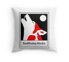 Red Husky Media Logo Throw Pillow