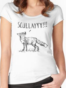 What a Certain Fox Says Women's Fitted Scoop T-Shirt