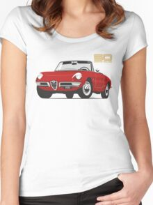 Alfa Romeo Duetto Series 1 Spider red Women's Fitted Scoop T-Shirt