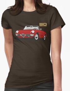Alfa Romeo Duetto Series 1 Spider red Womens Fitted T-Shirt