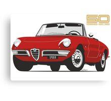 Alfa Romeo Duetto Series 1 Spider red Canvas Print