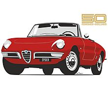 Alfa Romeo Duetto Series 1 Spider red Photographic Print