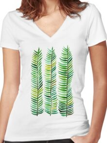 Seaweed Women's Fitted V-Neck T-Shirt