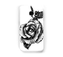 black and white tattoo rose drawing Samsung Galaxy Case/Skin