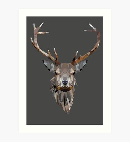 Low Poly Stag Art Print