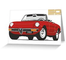 Alfa Romeo Series 2 Spider red Greeting Card