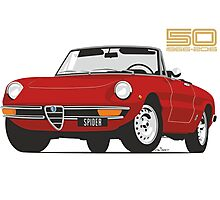 Alfa Romeo Series 2 Spider red Photographic Print