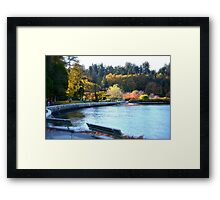 Fall Vancouver Seawall  Framed Print