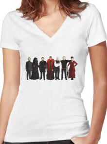 Doctor Who - The Seven Masters Women's Fitted V-Neck T-Shirt