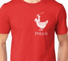 Pollo Shirt (GET IT?!) White Logo Unisex T-Shirt