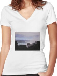 Azores Splash 5 Women's Fitted V-Neck T-Shirt