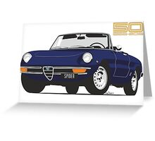 Alfa Romeo Series 2 Spider blue Greeting Card