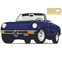 Alfa Romeo Series 2 Spider blue Photographic Print