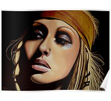 Christina Aguilera Painting Poster