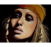 Christina Aguilera Painting Photographic Print