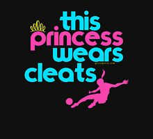 Golly Girls: This Princess Wears Cleats (soccer) Womens Fitted T-Shirt